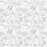Fundo infinito sem emenda do teste padrão com fórmulas matemáticas escritas à mão Imagens de Stock Royalty Free