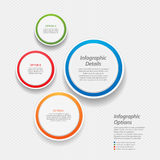 Fundo infographic colorido Fotos de Stock Royalty Free