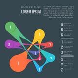 Fundo infographic das comunicações do estilo liso Fotos de Stock