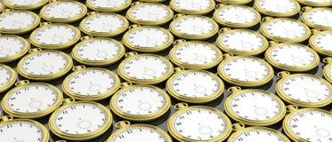 Fundo intemporal dos relógios do bolso ilustração 3D Fotos de Stock Royalty Free