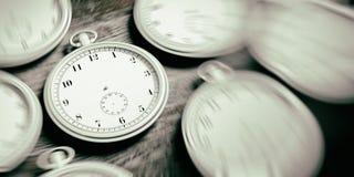 Fundo intemporal dos relógios do bolso ilustração 3D Foto de Stock