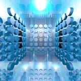 Sala azul de Digitas Imagens de Stock Royalty Free