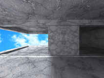 Fundo interior concreto vazio abstrato Foto de Stock Royalty Free