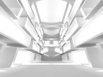 Fundo interior moderno da construção branca da arquitetura Imagem de Stock Royalty Free