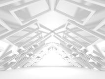 Fundo interior moderno da construção branca da arquitetura Fotos de Stock Royalty Free