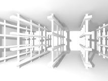 Fundo interior moderno da construção branca da arquitetura Fotografia de Stock