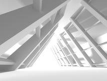 Fundo interior moderno da construção branca da arquitetura Imagens de Stock