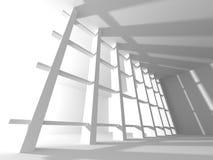 Fundo interior moderno da construção branca da arquitetura Fotografia de Stock Royalty Free