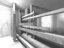 Fundo interior moderno da construção branca da arquitetura Imagem de Stock