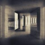 Fundo interior sujo abstrato, construções Fotografia de Stock
