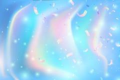 Fundo Iridescent Contexto macio abstrato holográfico das cores pastel Mesh Holographic Foil Backdrop Criativo na moda ilustração do vetor