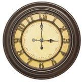 Fundo isolado da face do relógio três velhos Imagens de Stock Royalty Free