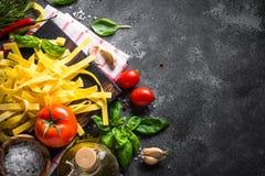 Fundo italiano do alimento imagens de stock royalty free