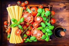 Fundo italiano do alimento fotografia de stock