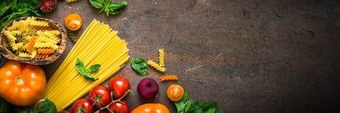 Fundo italiano do alimento fotos de stock royalty free