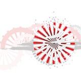 Fundo japonês bonito Ilustração Royalty Free