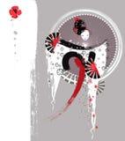 Fundo japonês bonito da gueixa Ilustração do Vetor
