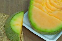 Fundo japonês do fruto da corrediça do melão Imagens de Stock