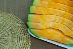Fundo japonês do fruto da corrediça do melão Foto de Stock