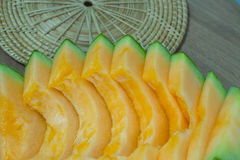 Fundo japonês do fruto da corrediça do melão Imagem de Stock Royalty Free