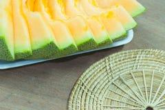 Fundo japonês do fruto da corrediça do melão Fotos de Stock