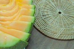 Fundo japonês do fruto da corrediça do melão Imagens de Stock Royalty Free
