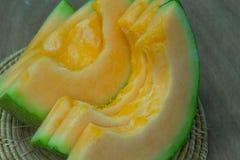 Fundo japonês do fruto da corrediça do melão Fotografia de Stock