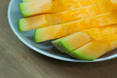 Fundo japonês do fruto da corrediça do melão Fotografia de Stock Royalty Free