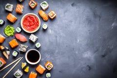 Fundo japonês do sushi Fotografia de Stock Royalty Free