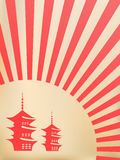 Fundo japonês do vetor Fotografia de Stock