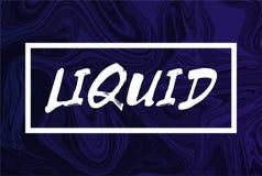 Fundo líquido abstrato com texto O projeto na moda liquefaz a tampa cor roxa Foto de Stock