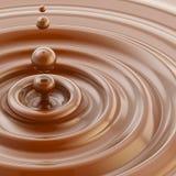 Fundo líquido da gota de chocolate de Brown ilustração stock