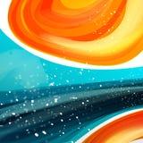 Fundo líquido da onda da faísca da curva mínima do vetor com espaço para o texto e mensagem para a arte finala do negócio, folhet Imagens de Stock Royalty Free