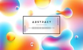 Fundo líquido na moda da cor Fundo moderno do inclinação Cartazes líquidos futuristas modernos do projeto ilustração do vetor