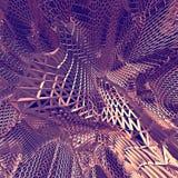 Fundo líquido roxo abstrato de pano 3D ilustração stock