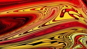 Fundo líquido vermelho abstrato Imagens de Stock Royalty Free