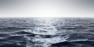 fundo largo do horizonte das ondas de oceano ilustração do vetor