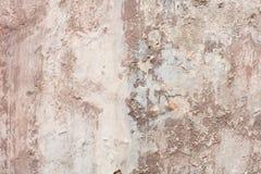 Fundo lascado bege velho da textura da parede fotos de stock royalty free