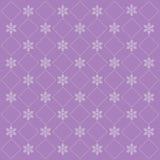 Fundo lilás do Natal com flocos de neve Fotografia de Stock Royalty Free