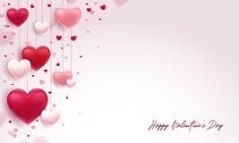 Fundo lindo do Valentim com tipografia agradável ilustração do vetor