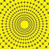 Fundo, linha abstrata e diamante do amarelo do projeto do vetor para circundar a rede ilustração royalty free