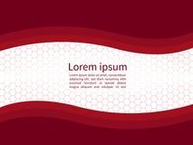 Fundo liso de papel vermelho de ondulação abstrato do molde Imagem de Stock