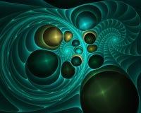 Fundo liso do sumário da onda, conceito de incandescência de fluxo do movimento da cor ilustração do vetor