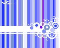 Fundo listrado azul Ilustração Stock