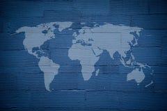 Fundo listrado azul da textura da parede Fotografia de Stock Royalty Free