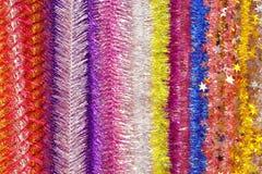 Fundo listrado brilhante do Natal do ` s do ano novo de multi-colore Imagens de Stock Royalty Free