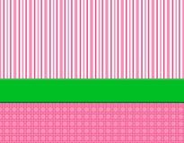Fundo listrado cor-de-rosa, branco & verde Imagem de Stock Royalty Free