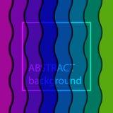Fundo listrado da cor do arco-íris da onda Imagem de Stock Royalty Free