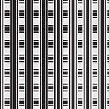 Fundo listrado grosso e fino preto e branco do teste padrão do weave Imagens de Stock
