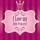 Fundo listrado roxo cor-de-rosa brilhante bonito Cartão de cumprimentos Imagem de Stock